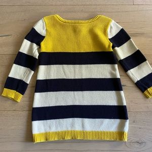 Gap Sweater Dress in Yellow and Navy Stripe